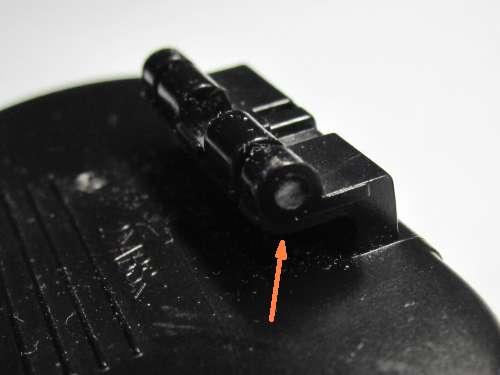 タニタ 歩数計 FB-726のベルトクリップヒンジピンが欠けた