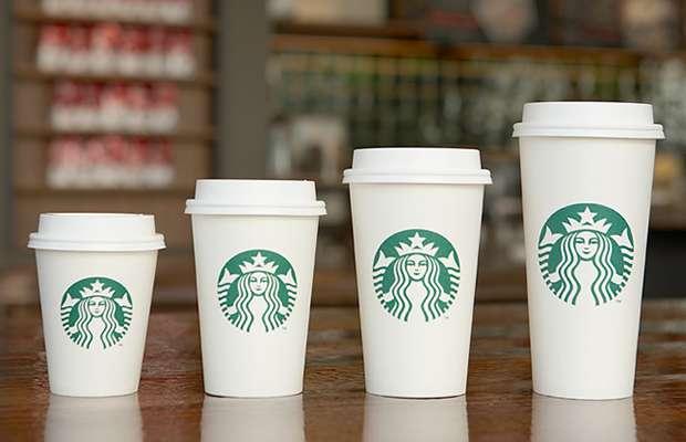 スターバックスのカップサイズ