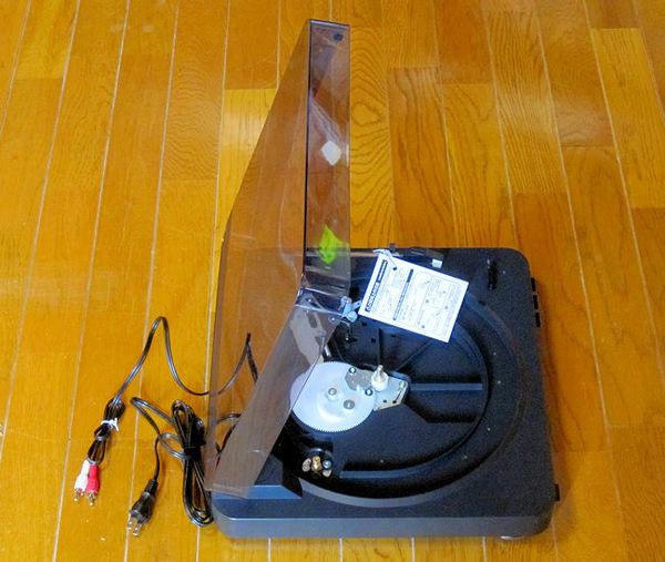 レコードプレーヤーAT-PL300(本体横から)