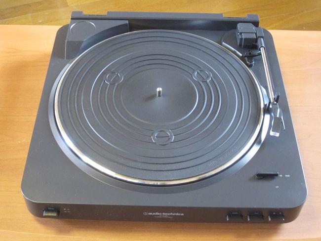 レコードプレーヤーAT-PL300(ターンテーブルシートを乗せて組み立て完了)