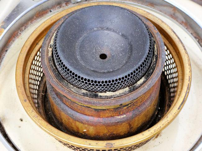 アラジンブルーフレームヒーター(古くなった芯)