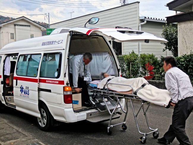介護タクシーの荷台
